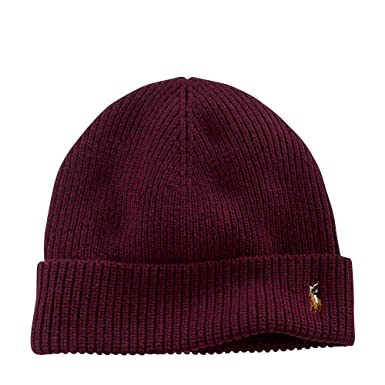 79737df61 Polo Ralph Lauren Men s Signature Cuffed Merino Hat (One size