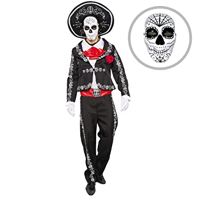 Amazoncom Spooktacular Creations Mens Day Of The Dead Mariachi