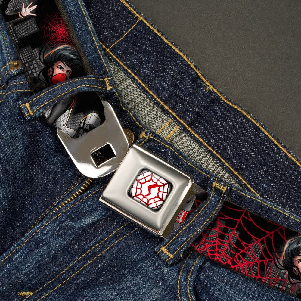 Buckle-Down Mens Seatbelt Belt Silk Wspd054