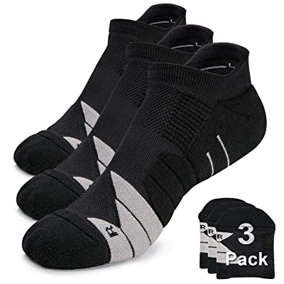 Compression Athletic No Show Running Socks with CoolMax Cushion for Men & Women: Clothing