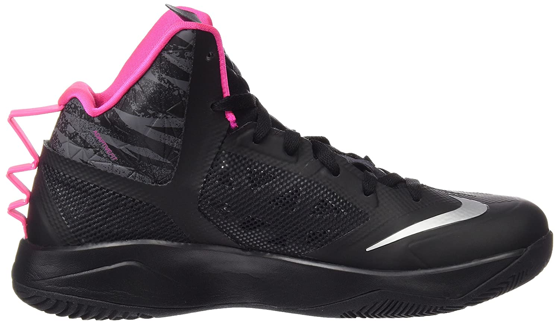 new arrival 0fabf 016c2 Amazon.com   Nike Men s Zoom Hyperfuse 2013 Blck Mtllc Slvr Drk Gry Pnk Fl Basketball  Shoe 10.5 Men US   Basketball