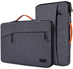 """15.6 Inch Waterpoof Laptop Sleeve Case for Acer Aspire 5 A515/Aspire E 15/Chromebook 15, HP Envy x360/OMEN/Pavilion 15, MacBook Pro 16.1 inch, MSI, DELL, ASUS, 15.6"""" Protective Notebook Briefcase Bag"""