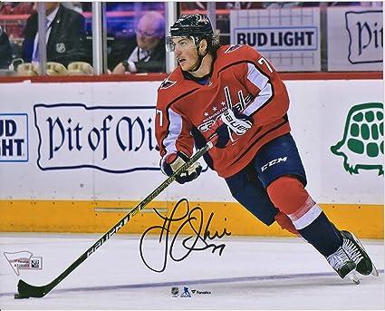 598cfd6df63a9 T.J. Oshie Washington Capitals Autographed 8 quot  x 10 quot  Red Jersey  Skating Photograph - Fanatics