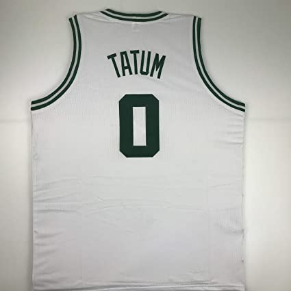 buy online a11fd 72d89 Unsigned Jayson Tatum Boston White Custom Stitched ...