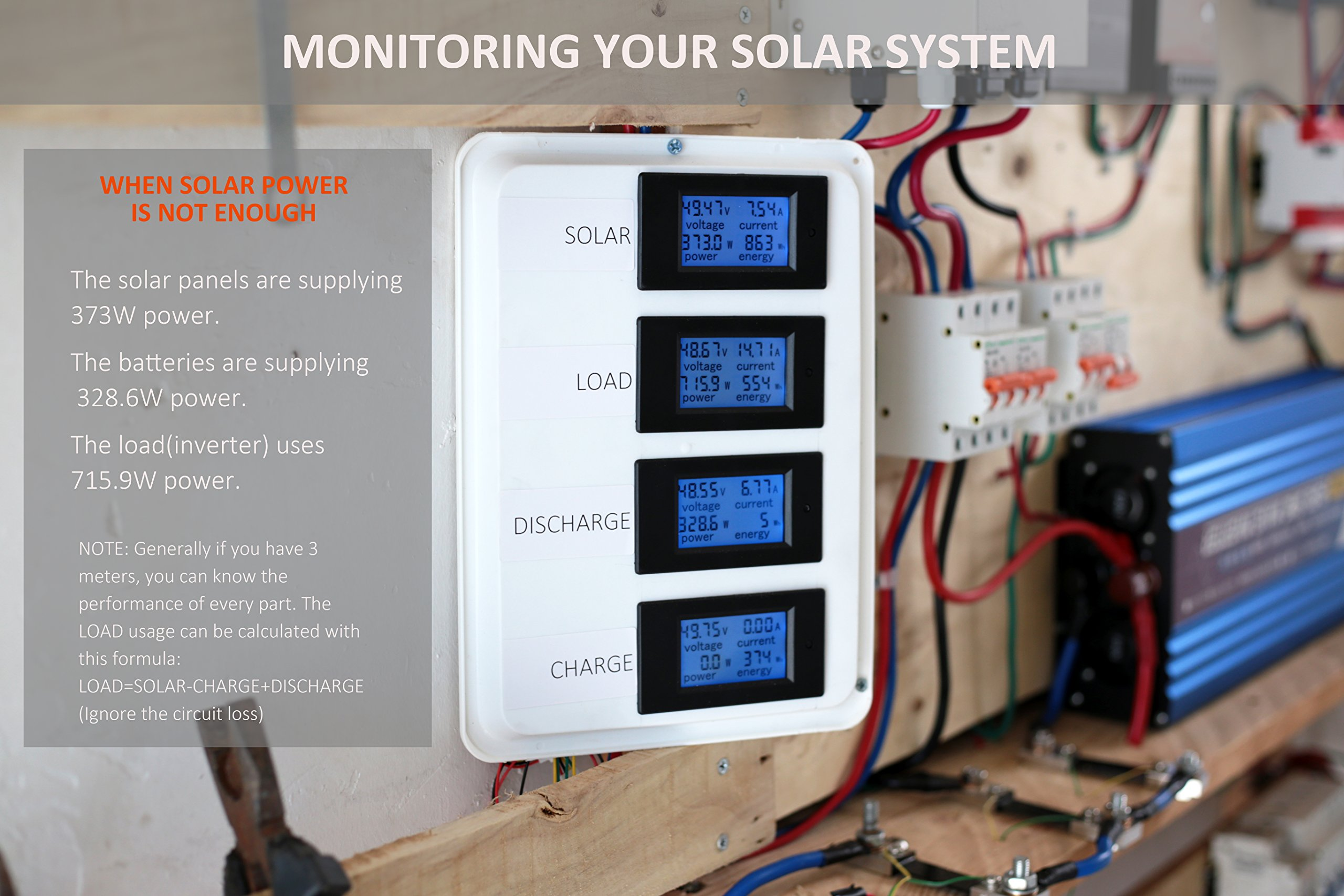 Bayite Dc 65 100v 0 100a Lcd Display Digital Current Voltage Power Ammeter Voltmeter Panel Amp Volt Meter Energy Multimeter With Shunt Pzem 101