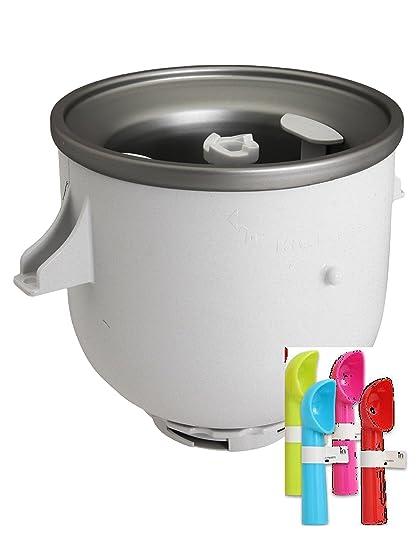 Amazon Com Kitchenaid Kica0wh Ice Cream Maker Attachment One Ice
