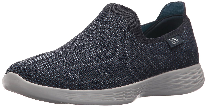 Skechers Women's You Define Sneaker B071GF286R 10 B(M) US|Navy/Blue
