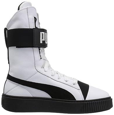 PUMA Platform Boot Wn, Piattaforma Donna, White Black, 42 EU