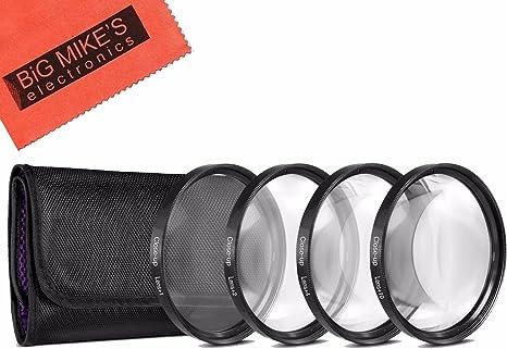 Incluye pr/áctica Caja de Transporte 2 dioptr/ías Lente de Cristal Lupa de aproximaci/ón Ideal para Primeros Planos y macrofotograf/ía de peque/ños Objetos smardy 49mm Close Up Macro Filtro