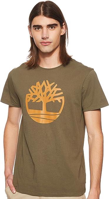Timberland - Camiseta con logo de trébol para hombre, color caqui caqui S: Amazon.es: Ropa y accesorios