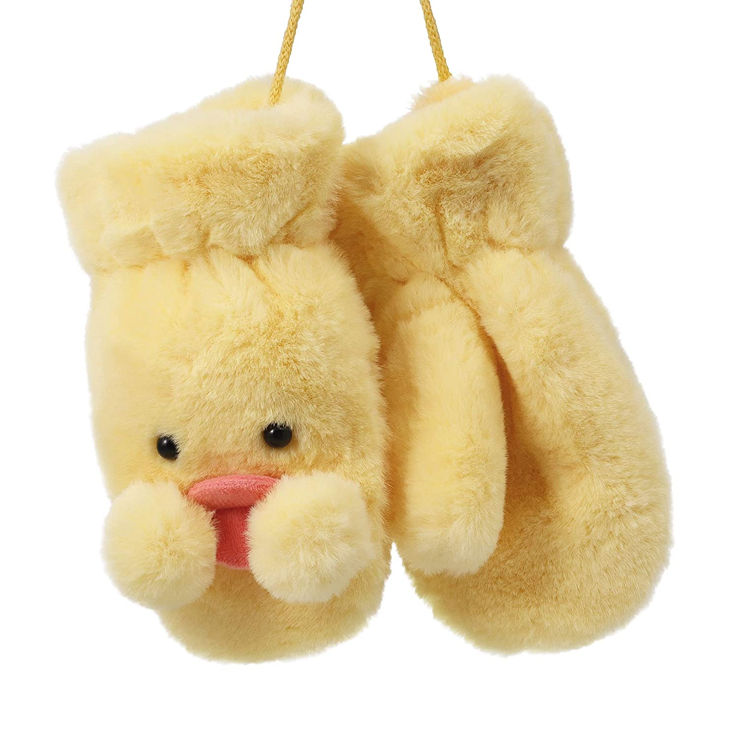 Flammi Kids Cold Wearther Mittens with String Fluffy Mittens Warm Duck Look