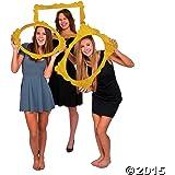 "Gold Glitter Picture Frame Cutouts - 3 Piece Set - 16"" X 23"""
