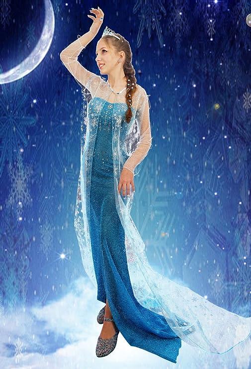 Everglamour - Disfraz de Elsa de Frozen para adulto, M(UK SIZE 10 ...