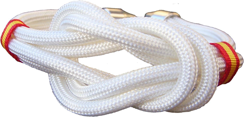 Pi2010 - Pulsera España Nudo Doble Blanco, 19cm / Cinta Bandera de España en Laterales/Recomendable medirse la muñeca: Amazon.es: Joyería