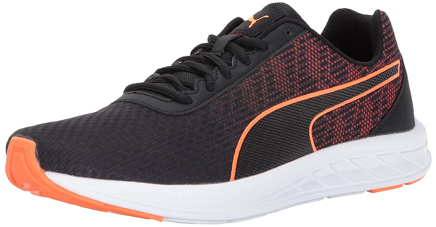 PUMA Men's Comet Turnschuhe, schwarz-Shocking Orange, 13 M US