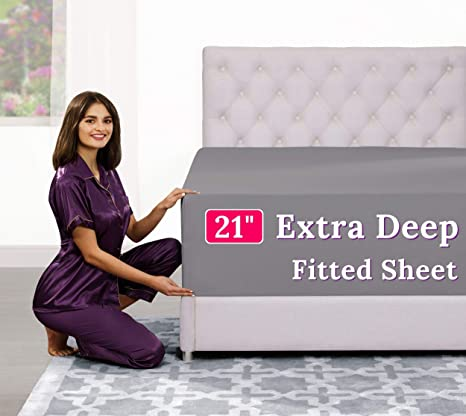 21� Inch Deep Pocket Queen Fitted Sheet � 17� Extra Deep Pocket Fitted Sheet