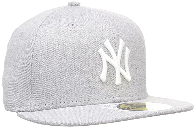 69bd78200e4 New Era New York Yankees Heather Cap 59fifty Basic Fitted Cap Kids Children  Grey