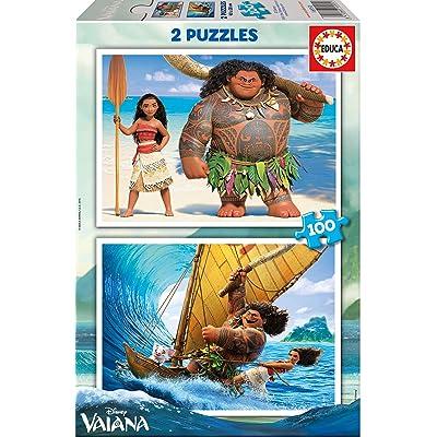 Vaiana- Dibujos Animados y cómic Puzzle, 2 x 100 Piezas (Educa Borrás 16953): Juguetes y juegos