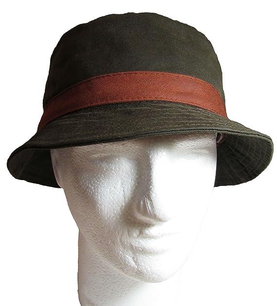 GREVI Mens 100% Cotton Bucket Hat 7da8a7311e31