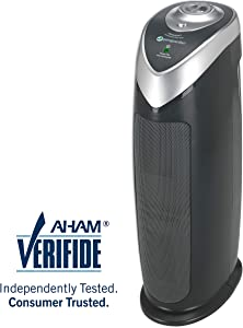 "Guardian Technologies Germ Guardian AC4820 22"" True HEPA, Full Room, Allergies, Smoke, Dust, Pet Dander, Odors, 3-Yr Wty, GermGuardian, Grey Filter Air Purifier for Home"