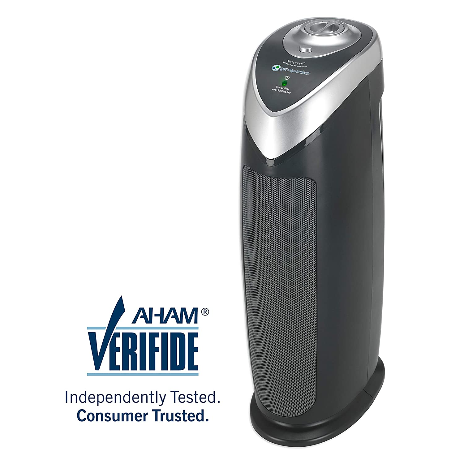 Germ Guardian AC4820 22 True HEPA, Full Room, Allergies, Smoke, Dust, Pet Dander, Odors, 3-Yr Wty, GermGuardian, Grey Filter Air Purifier for Home