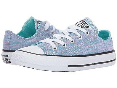 2768ec7cc3a9 Converse Kids Chuck Taylor All Star Jersey Knit Ox Little Kid Light  Aqua Pink Pow