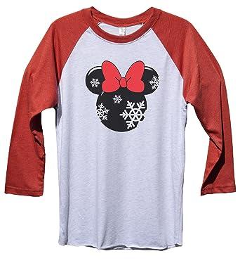 funny threadz minnie mouse christmas baseball tee minnie mouse disney christmas baseball tee x - Disney Christmas Shirts