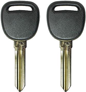Set of 2 Uncut Transponder Ignition Key fits PK3 Buick//Chevy//Oldsmoble//Pontiac//Saturn