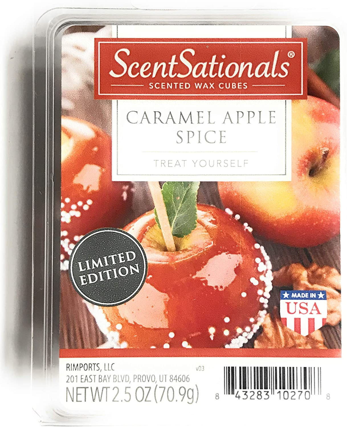 2018 Limited Edition ScentSationals Caramel Apple Spice Wax Cubes