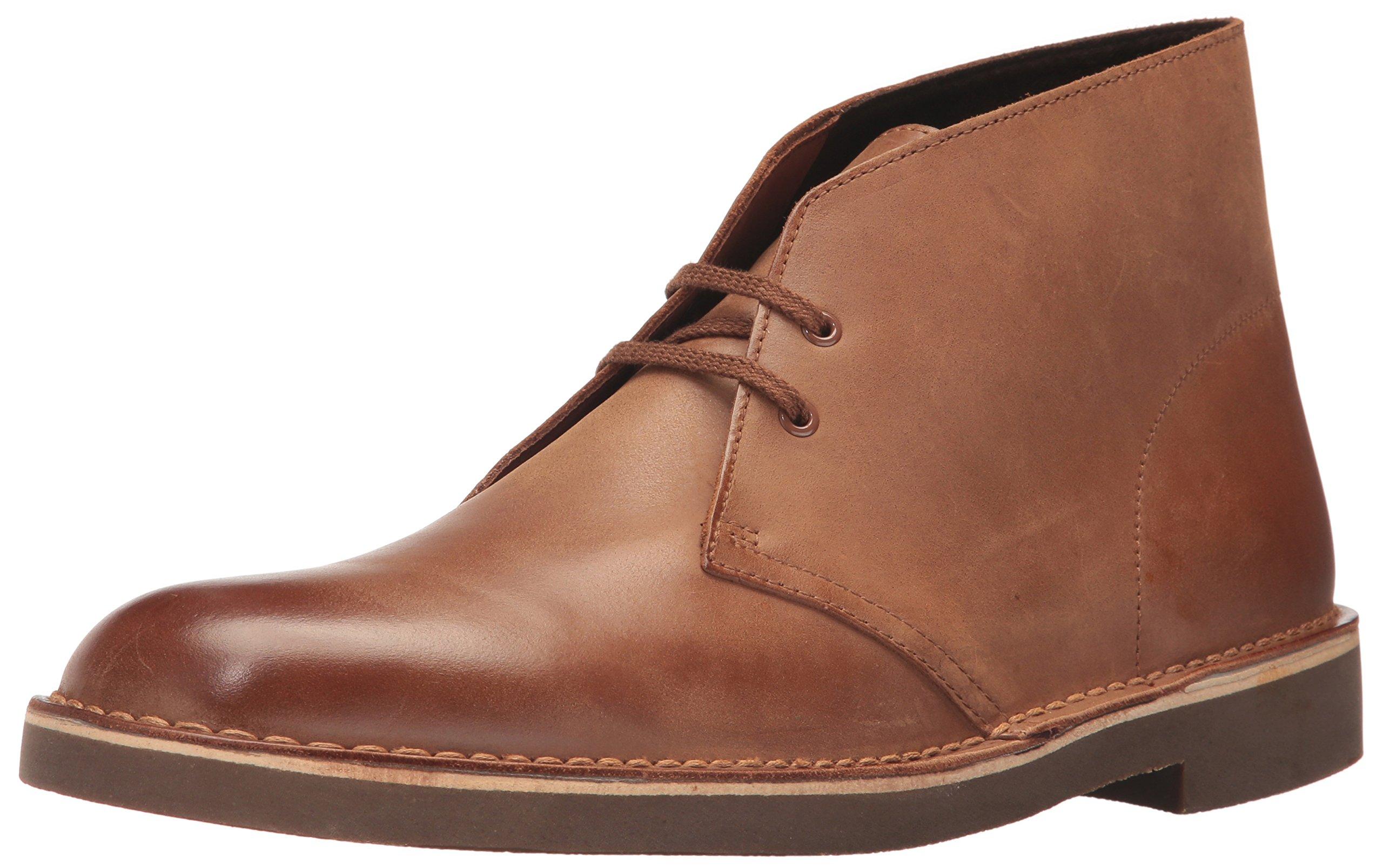 Clarks Men's Bushacre 2 Chukka Boot dark tan leather 12 M US