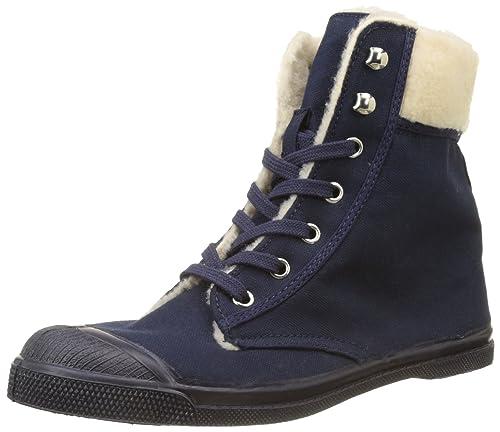 Bensimon Ten Ranger Fourre, Zapatillas Altas para Mujer, Azul (Marine), 38 EU: Amazon.es: Zapatos y complementos