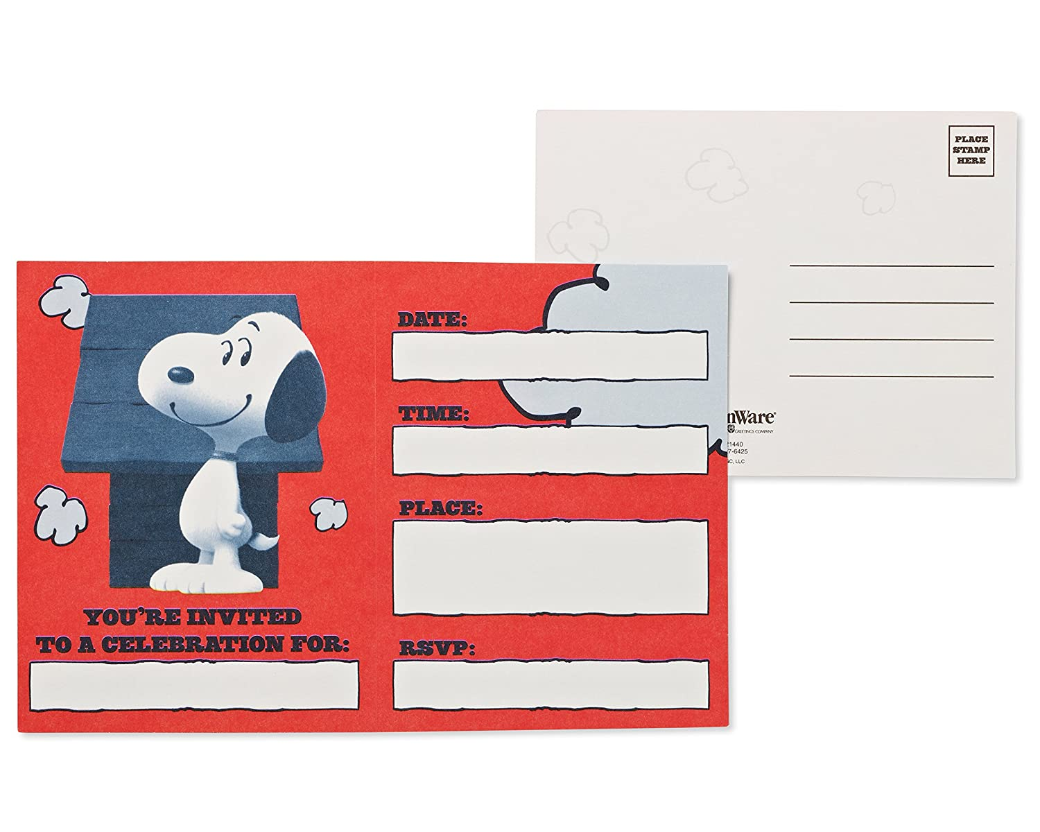 Amazon.com: American Greetings Peanuts Invite and Thank You Combo ...