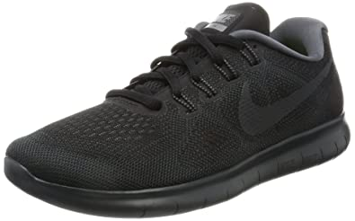 2c3bba9c75314 Image Unavailable. Image not available for. Color  Nike Women s Free Rn 2017  Black Anthracite Dark Grey Running Shoe ...
