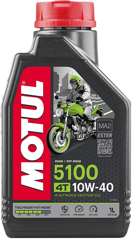Motul 104066 Motorrad Motoröl 4 Takt 10 W 40 Teilsynth Anzahl 1 Auto