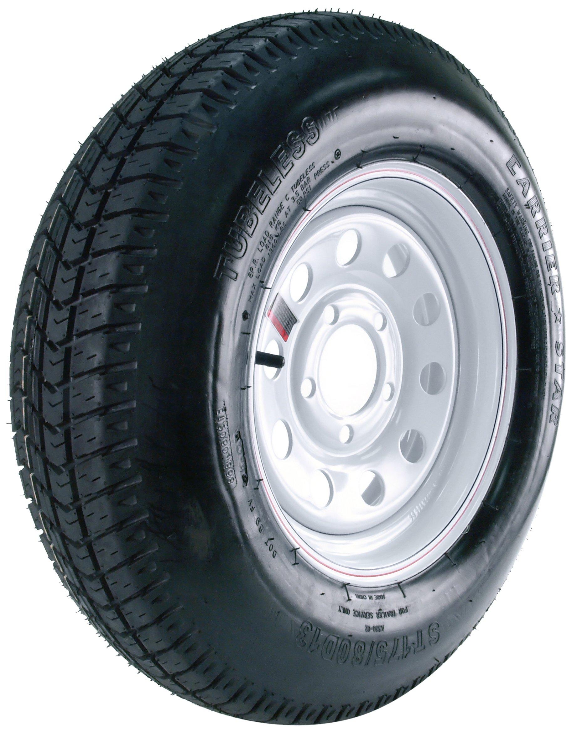 Carrier Star Trailer Tire and 5-Hole Mod Wheel (5/4.5) - 175/80D-13
