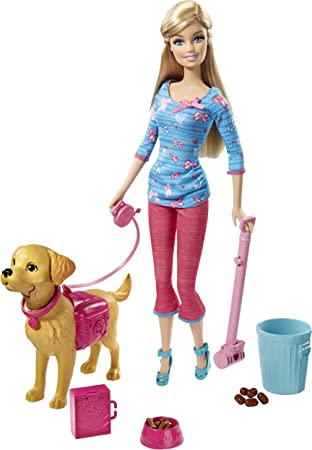 Barbie Bdh74 Poupée Barbie Et Son Chien Taffy