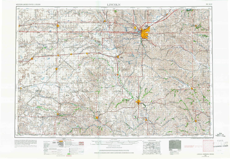 Amazon.com : YellowMaps Lincoln NE topo map, 1:250000 Scale, 1 X 2 ...