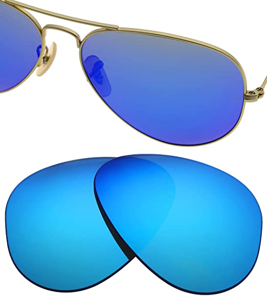 c3c5d5e049f HEYDEFO Compatible Replacement Lense for Ray-Ban RB3025 3025 Aviator 58mm  Polarized
