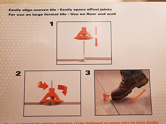 RIDGID Level Anti Lippage 100-pcs Spacing System Flat Stem Tile Spacer Stems