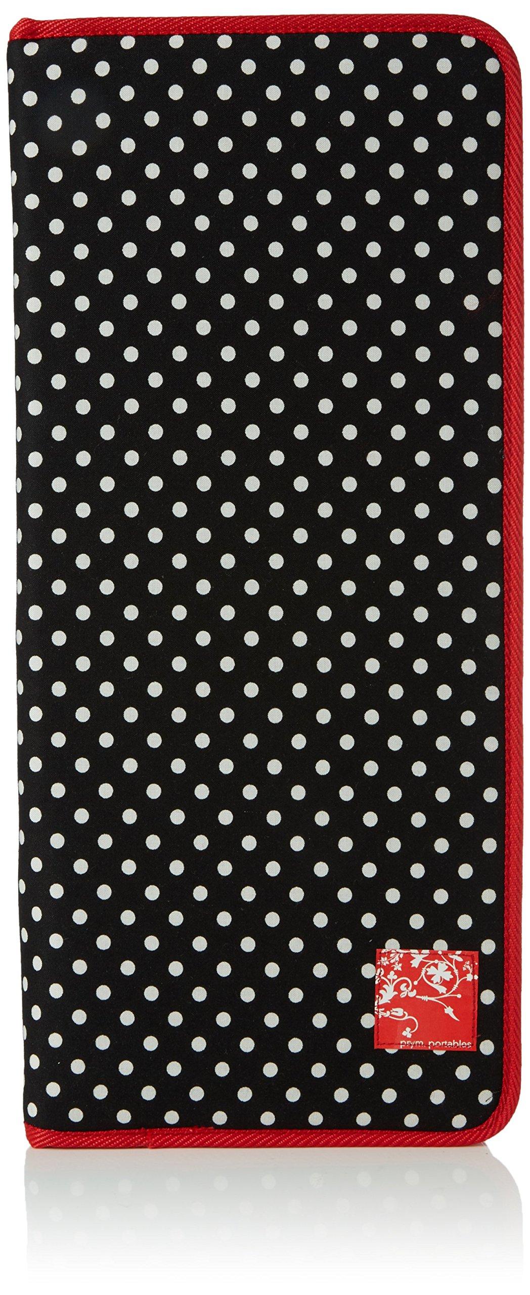 Prym 612181 Polka Dot Design Black White Empty Knitting Needle Case | 40 x 43cm