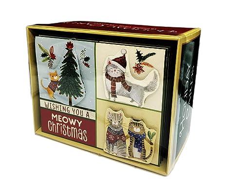 20b7dd05708c7a Amazon.com   Wishing you a Meowy Christmas Cute Playful Cats ...