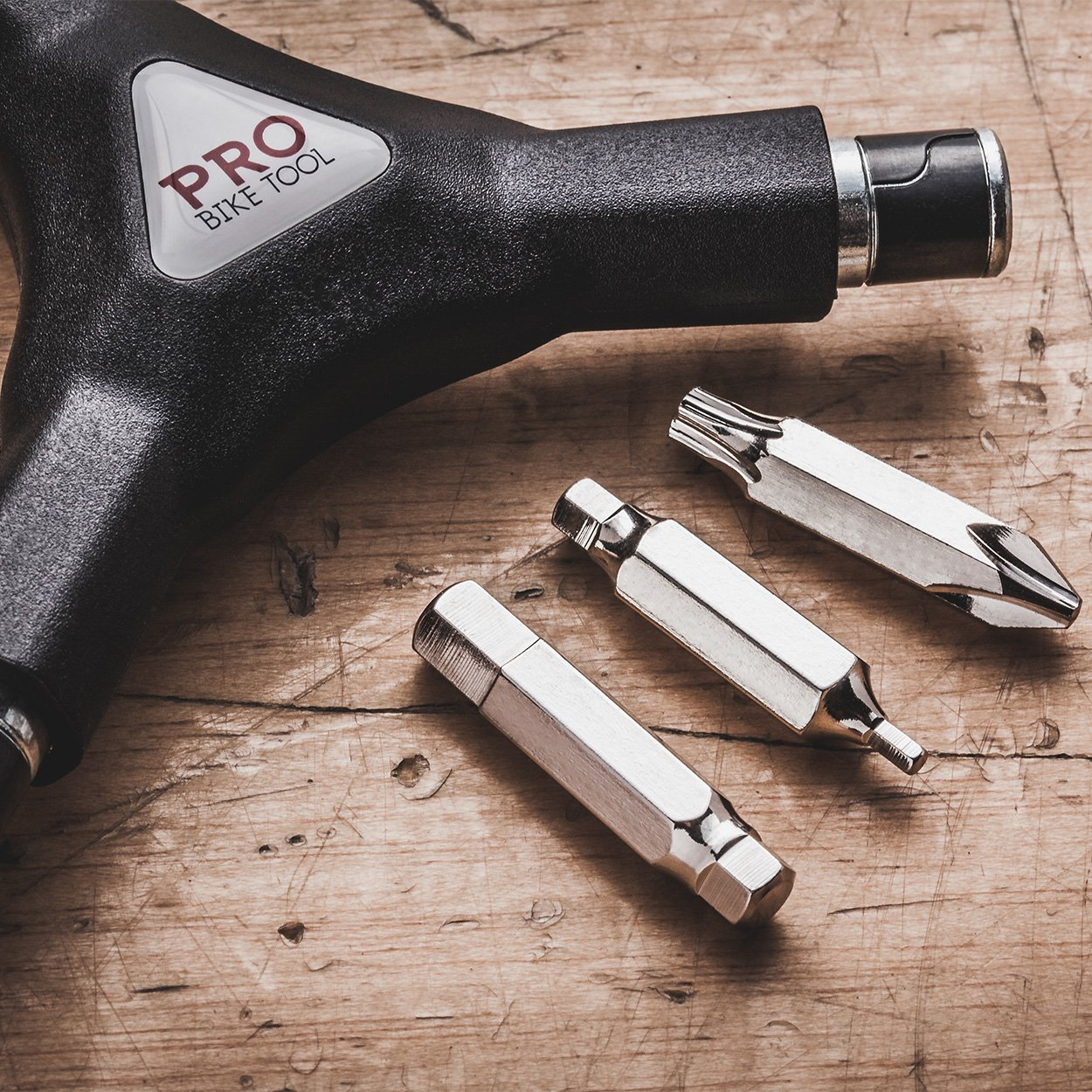 Pro Bike Tool 6 in 1 Y Wrench - 6 Interchangeable Bits - Allen Hex, T25 & PH2 Screwdriver - Strong, Easy & Comfortable Bicycle Multitool Kit - Cycling Maintenance Tools for Road and Mountain Bikes by Pro Bike Tool (Image #3)