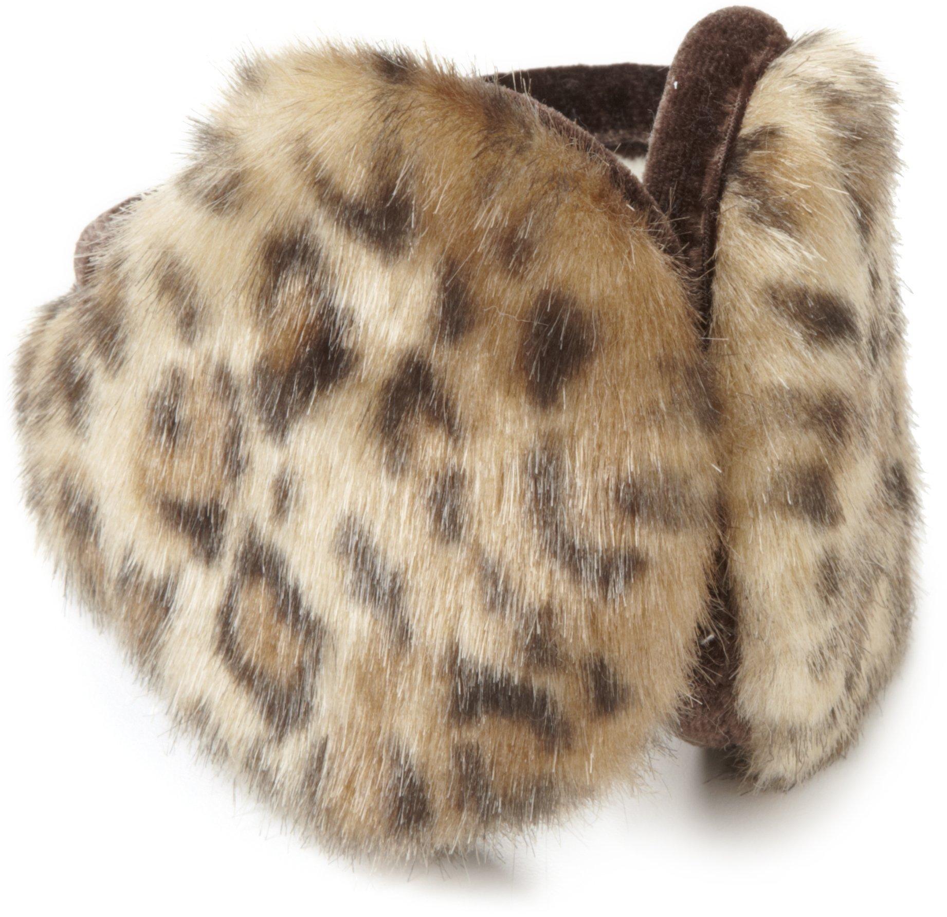 180s Women's Vail Earmuffs, Gold Leopard, One Size