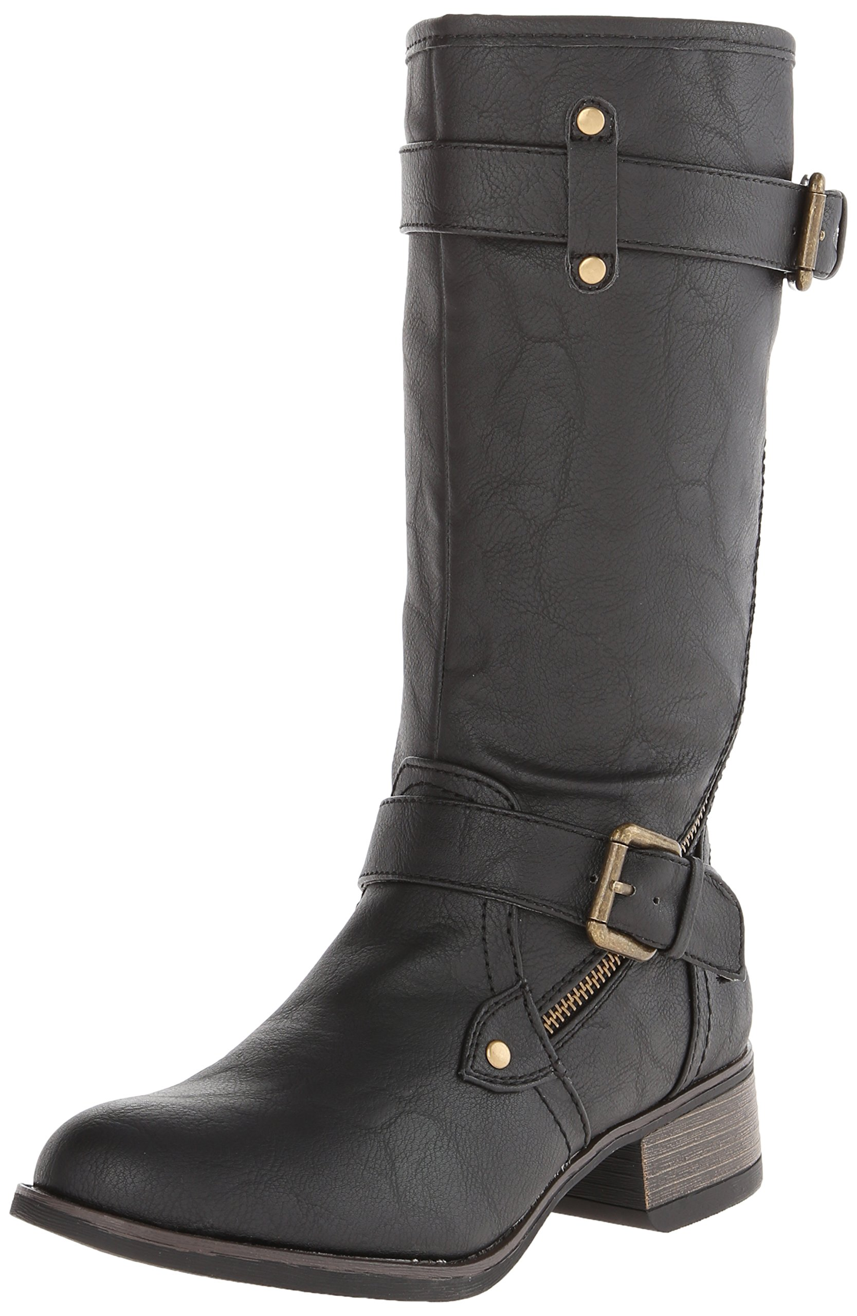 Wild Pair Women's Poulsbo Motorcycle Boot,Black,7 M US