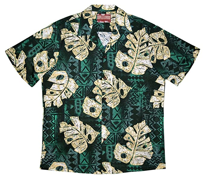 bee00fb8 Robert J. Clancey RJC Men's Monstera Legends Hawaiian Shirt at Amazon Men's  Clothing store:
