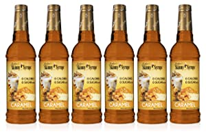 Jordan's Skinny Syrups Caramel, Sugar Free Coffee Flavoring Syrup, 25.4 Ounce Bottle (Pack of 6)