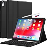 iPad Pro 12.9 Case with Keyboard-2018 [Support Apple Pencil Charging] [with Pencil Holder] Magnetically Detachable…
