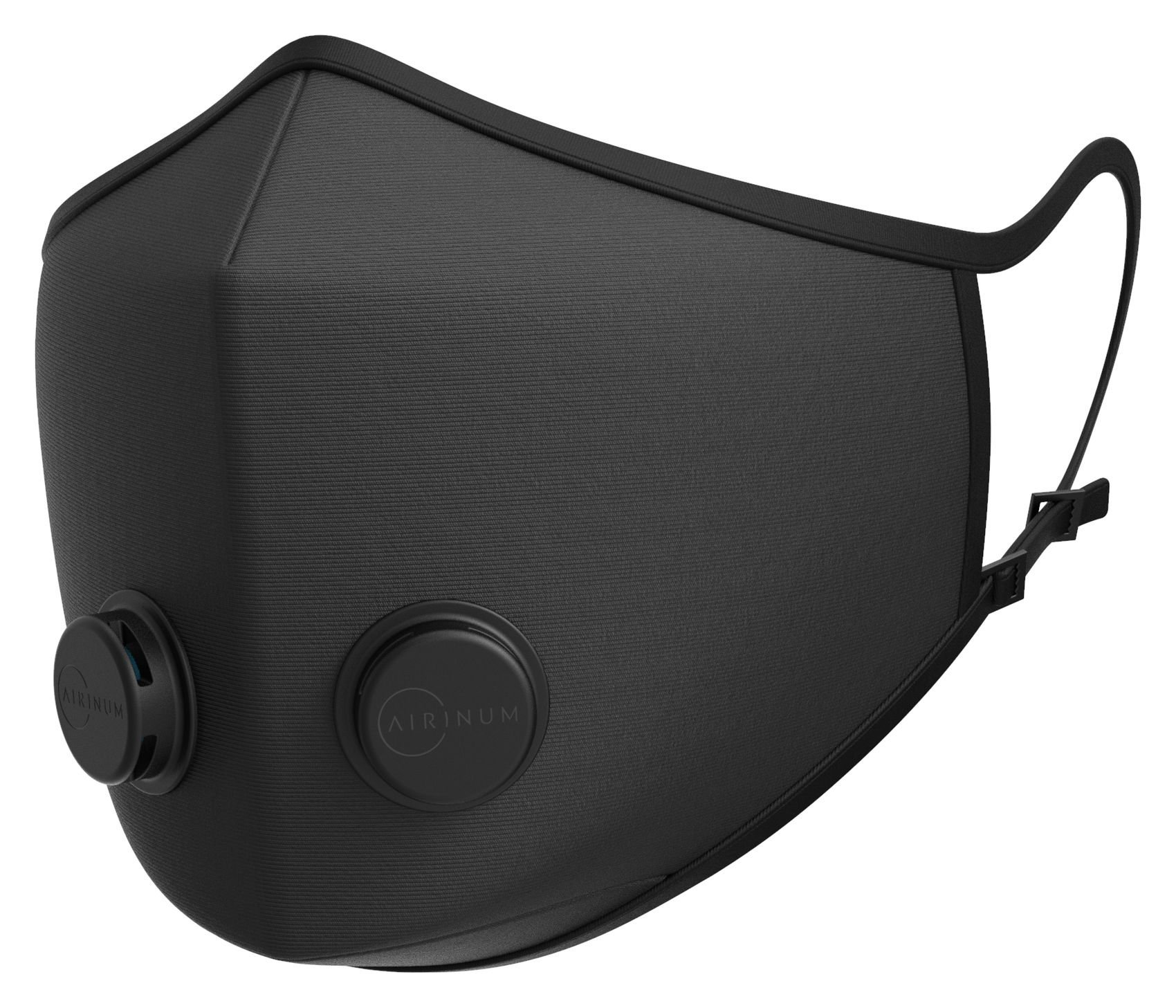 Airinum Urban Air Mask 1.0 – Reusable & Adjustable Air Mask That Protects Against Air Pollution, Smog, Allergens and Bacteria – Solid Black M by Airinum (Image #1)