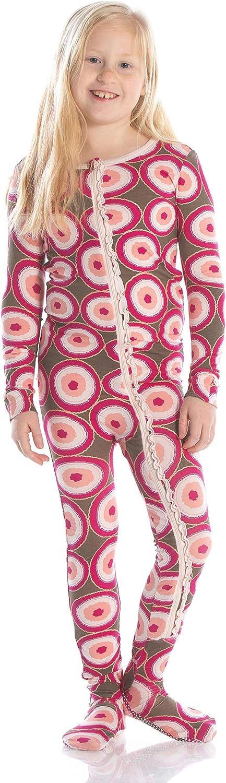 KicKee Pants Print Muffin Ruffle Footie with Zipper