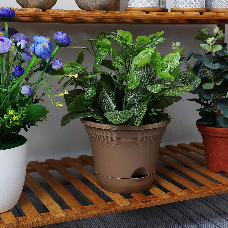 Topfe Wasserspeicher Blumentopf Fur Zimmerpflanzen T4u 20cm Plastik Selbstbewasserung Pflanzgefass Beige 4er Set Garten